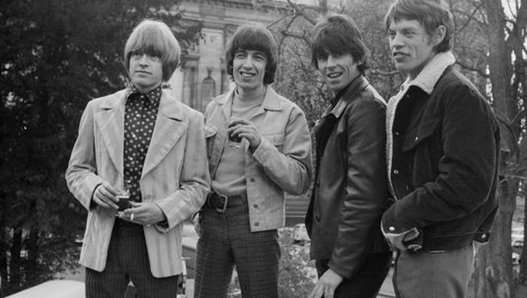 Members of the British rock band the Rolling Stones