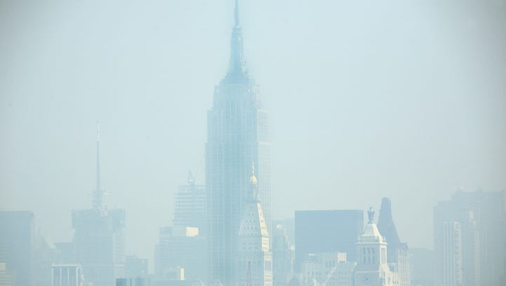 Smog covers midtown Manhattan in New York City on July