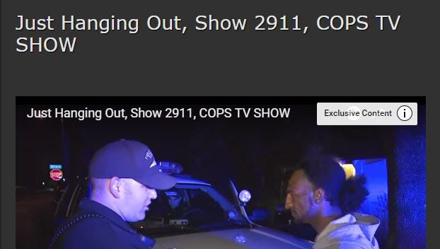 Salinas Police are featured in a Aug. 20 episode of COPS