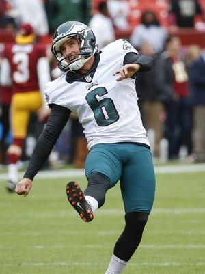 Eagles kicker Caleb STurgis suffered a concussion during pregame warmups.