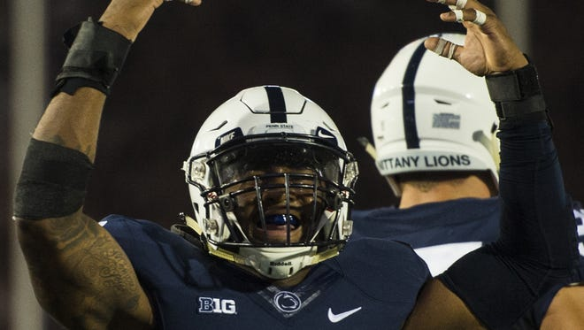 Brandon Bell (11) finally is healthy. If he can stay that way he could be the best playmaking linebacker in the Big Ten.