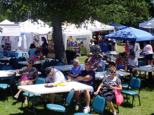 A scene from a previous Chincoteague Blueberry Festival.