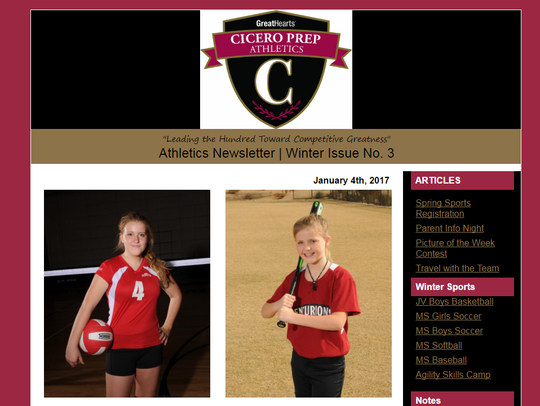 Victoria (left) and Skylar Falbe were athletes at Cicero