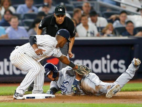 Jun 14, 2018; Bronx, NY, USA; New York Yankees third