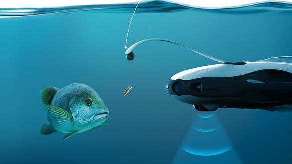 this underwater drone lets you take fishing to the next level, Reel Combo