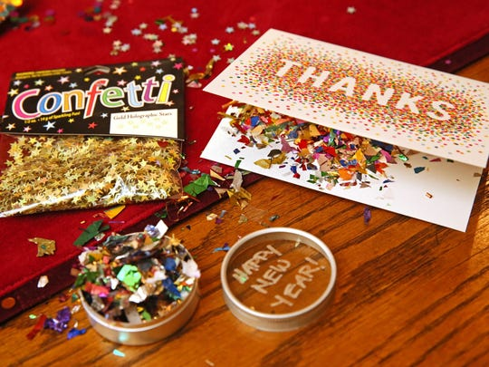 Frankie Suzanne Garr of Wauwatosa is known for putting confetti in greeting cards.