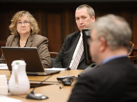 Johnson County Attorney Janet Lyness and assistant