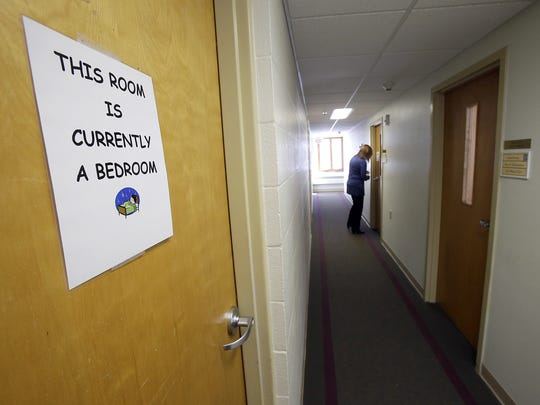 Harbor House sometimes uses program rooms for bedrooms after it hits capacity at its shelter for victims of domestic abuse.
