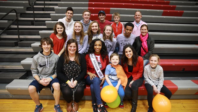 Pictured is the production team for the 2017 North Central Lip Dub. They are (front row, from left) Adam McGoff, Leslie Decker, Paige Robinson, Drake Williams, Naomi Pescovitz, Natalie Symmes, (second row) Tatum Parker, Abby Peterson, Kit Hanley, Erin DeVoe, Davon Graham, Libby Symmes, (back row) Anthony Gosling, Jack Morel, Joey Mervis, Sully Symmes and David Symmes.