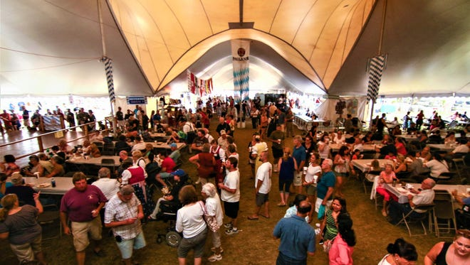 This year's Oktoberfest at the Delaware Saengerbund in Ogletown (pictured in 2016) will be held Sept. 21-23. A new Oktoberfest celebration at Wilmington's Constitution Yards Beer Garden in Wilmington will be held this weekend.