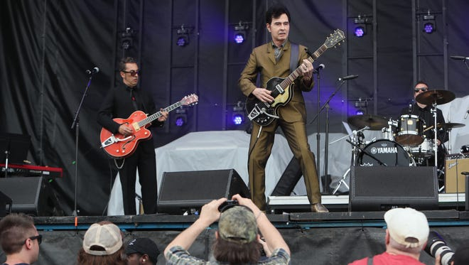 Tav Falco and the Panther Burns perform at Beale Street Music Festival on Saturday, May 5, 2018, in Tom Lee Park in Downtown Memphis, Tennessee.