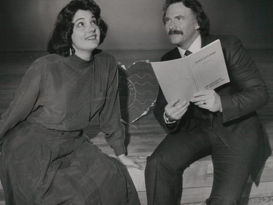 """Betty Hukill and Bob Barton in """"Love Letters"""" at Abilene"""