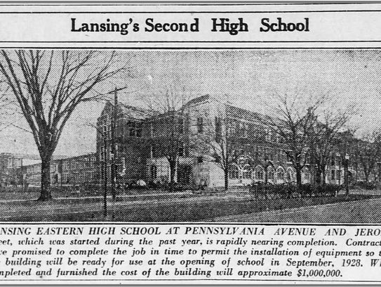 A photo from a Jan. 1928 Lansing State Journal shows