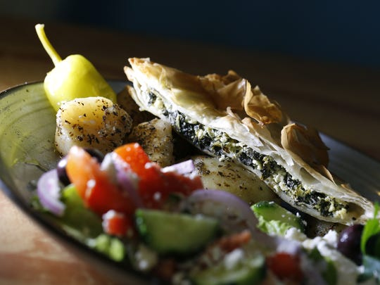 The Spanakopita Combo at Voula's Greek Sweets, 439