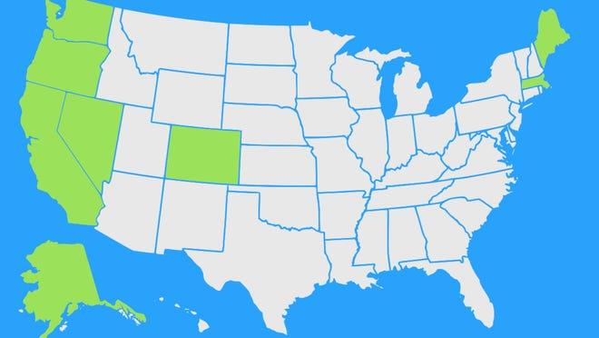 states that have legalized recreational marijuana