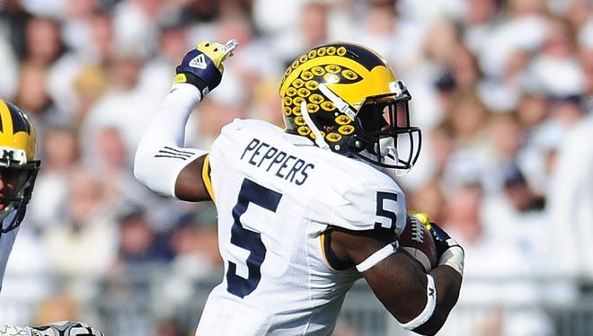 Jabrill Peppers of the Michigan Wolverines.