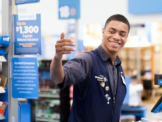 A Walmart cashier