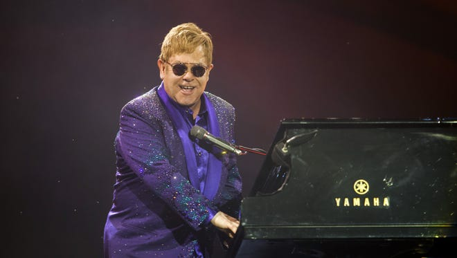Elton John performs at U.S. Bank Arena in early 2019. Tickets go on sale Friday.
