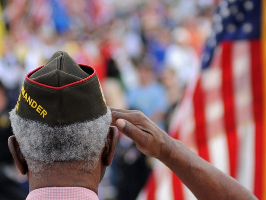 Veterans Massing of the Colors