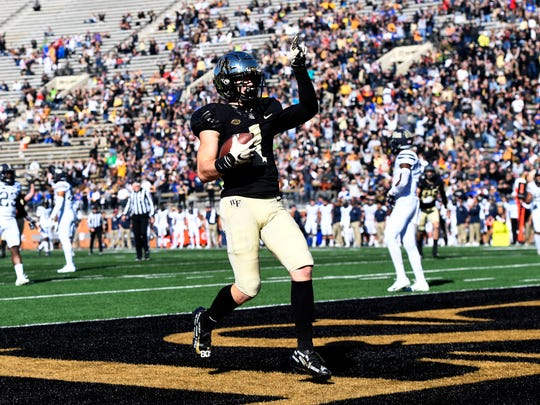 Alex Bachman caught 37 passes for 541 yards and six touchdowns as a senior at Wake Forest.
