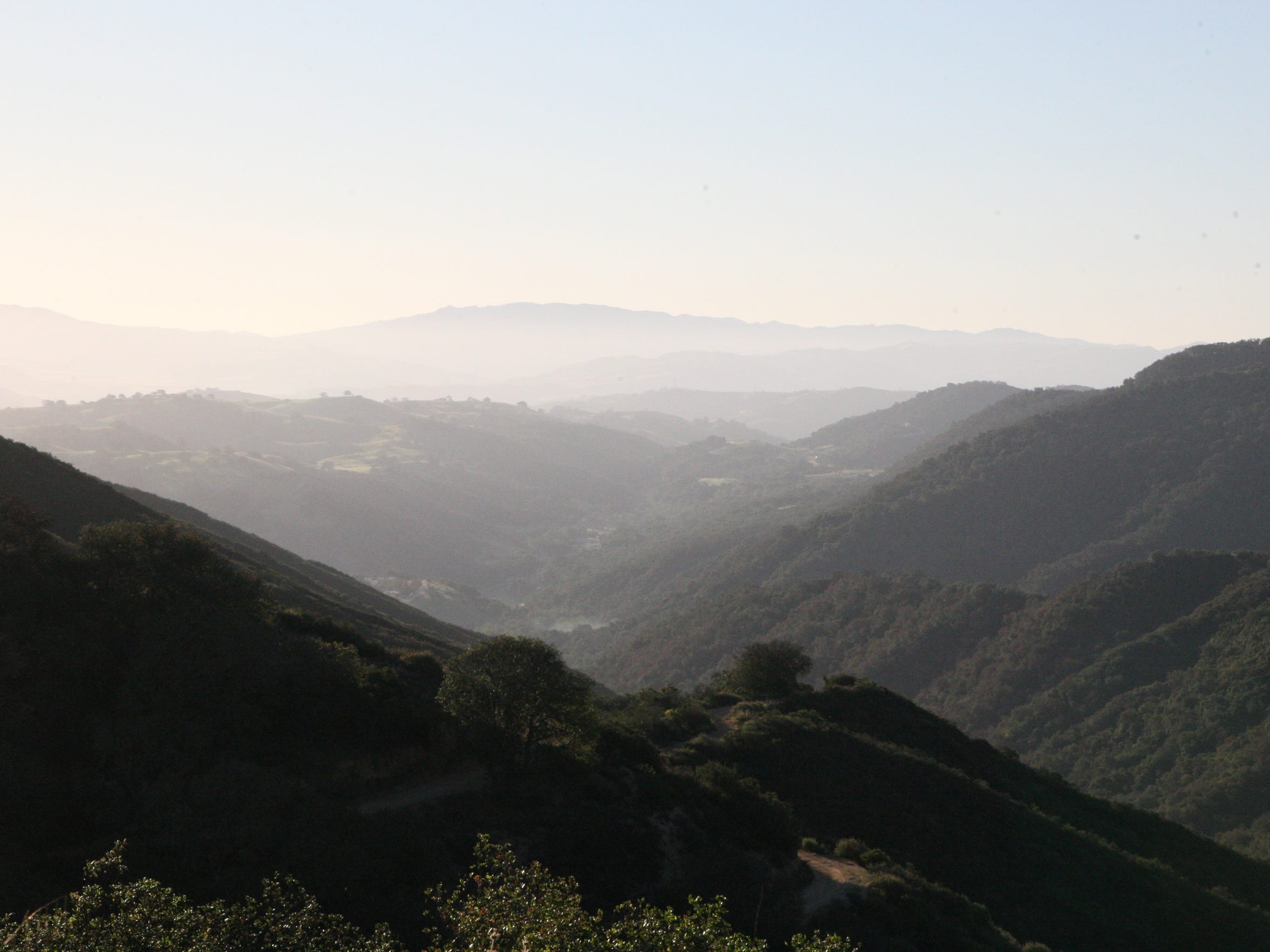 Early morning view of the San Benito Valley from Fremont