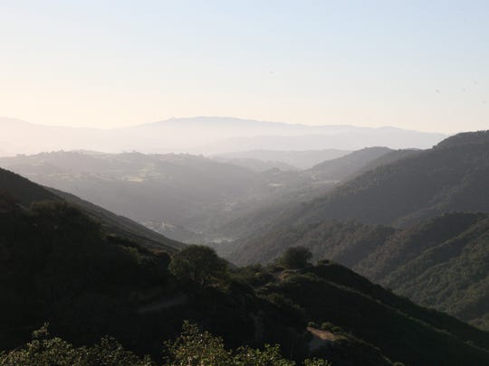 Early morning view of the San Benito Valley from Fremont Peak.