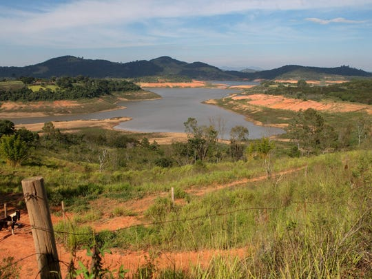 The Cantareira water reservoirs, in the state of Sao