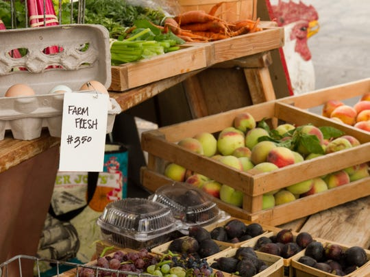 Fresh fruit and vegetables at the Cedar City Farmers'