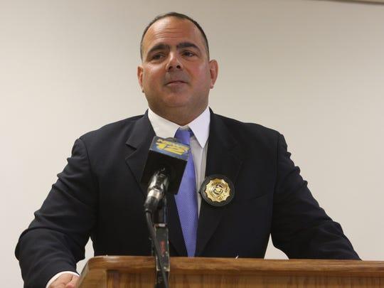 Ossining Police Detective Lt. Jeffrey Giorgio speaks