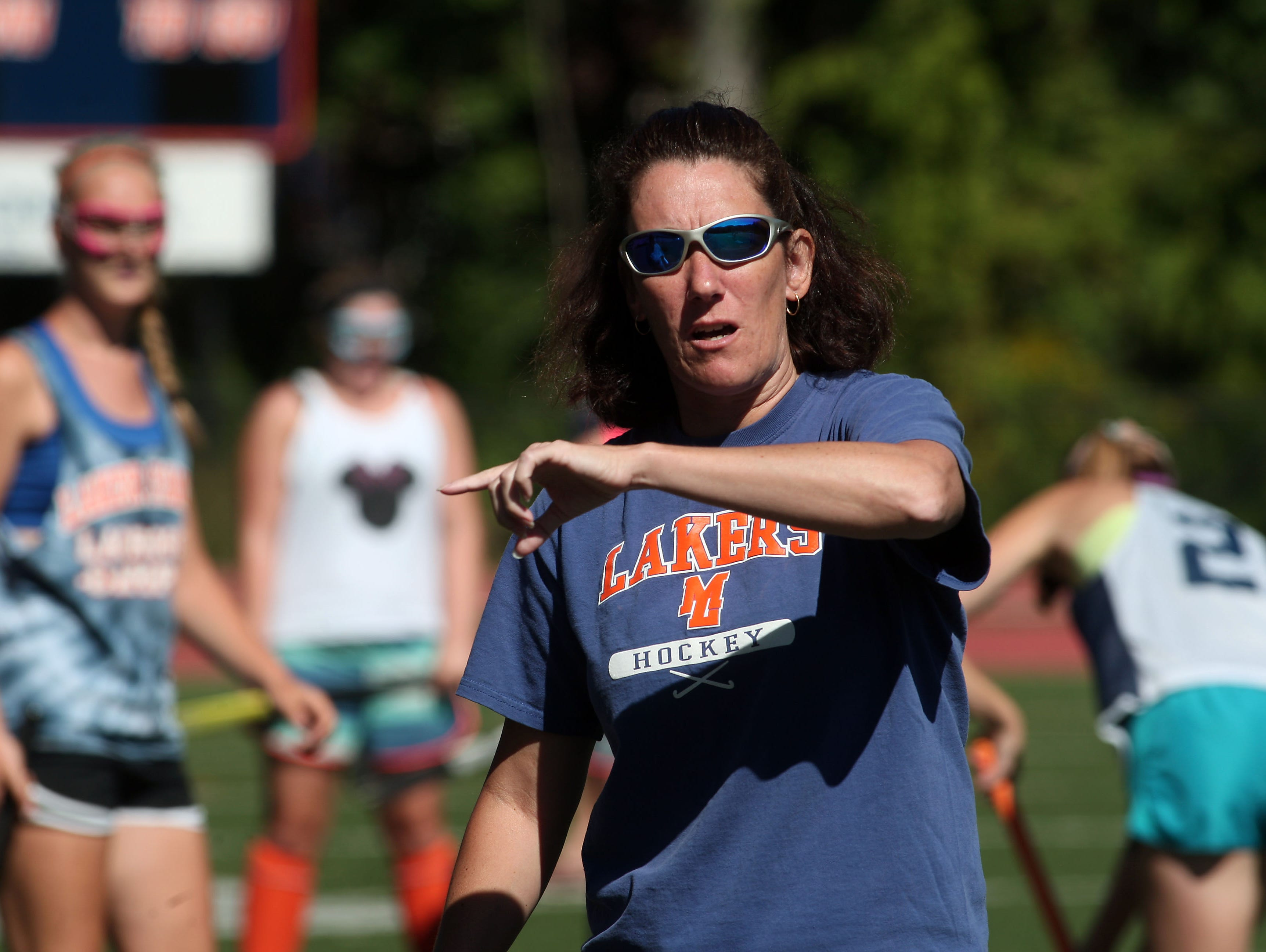 Mountain Lakes field hockey coach Coleen Buckley