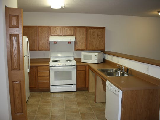 The newly-minted Canal Commons, a 44-unit affordable rental housing development in Delphi, is taking applications for apartments. The North Market Street location (kitchen pictured here) opened earlier this month.