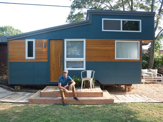 James Stoltzfus, owner of Liberation Tiny Homes, in