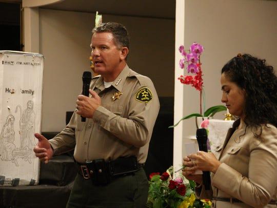 Monterey County Sheriff Steve Bernal speaks to community