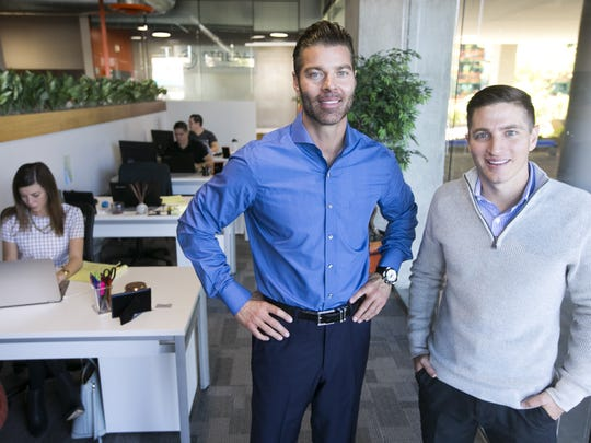 Stream Logistics founders Chad Patton (center) and