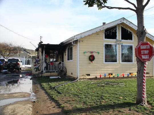 The Vollin family's home burned down Monday night, just days before Christmas.