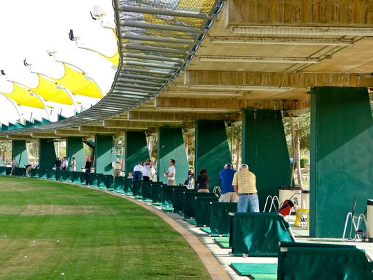 The driving range at CrackerJax Family Fun and Sports Park in Scottsdale has 66 hitting bays.