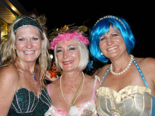 The Parade  of Mermaids starts at 7 p.m. with the mermaids