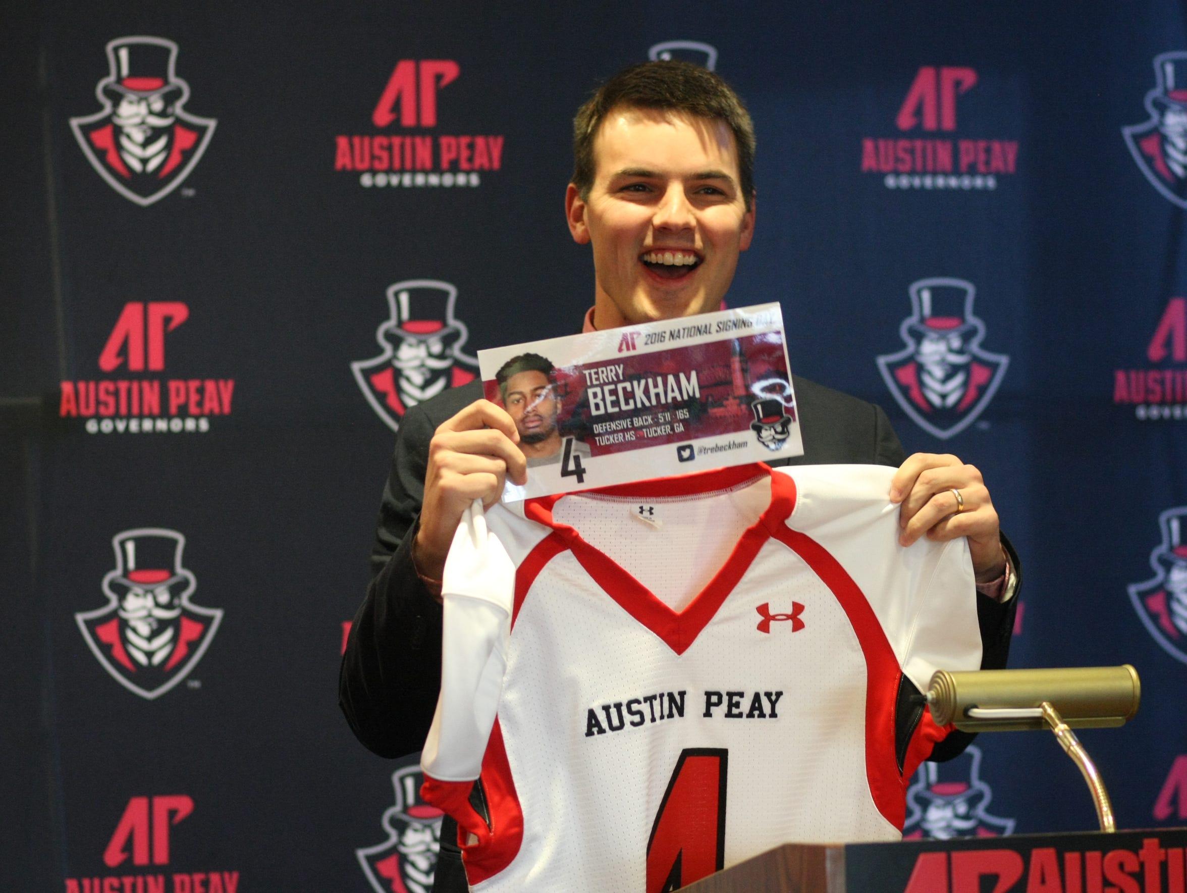New Austin Peay football coach Will Healy announces
