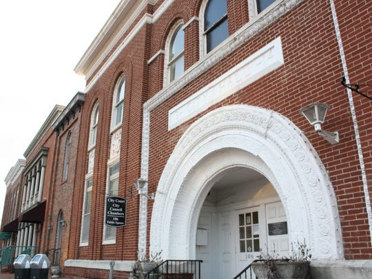 The Clarksville City Council Chambers, located on Public