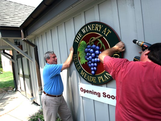 Belle Meade winery on track