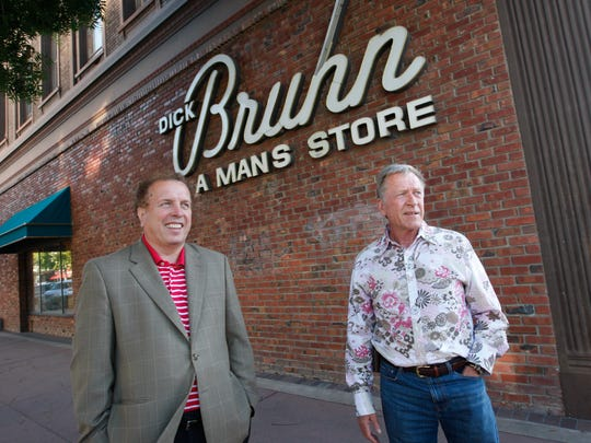 Gerry Kehoe, left, president and CEO of Berkley Inc. is the new owner of the old Dick Bruhn building on the corner of Main and Alisal Streets in Salinas. On right is Rick Phinney, who is the director of sales and marketing.