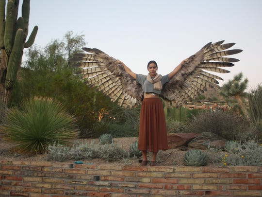 Wearable wings by Crooked Feather.