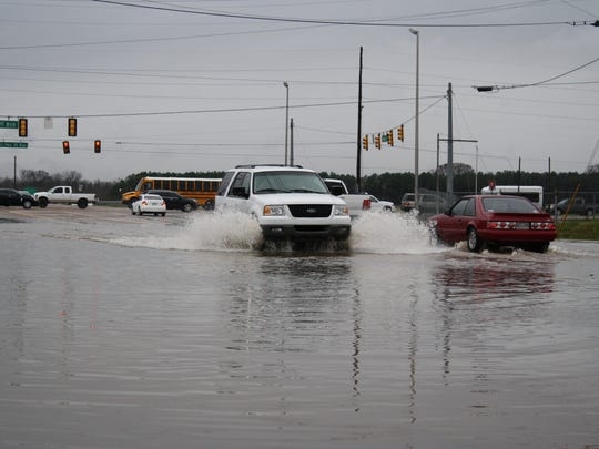Flooding on Airways Boulevard, just east of the U.S. 45 Bypass.