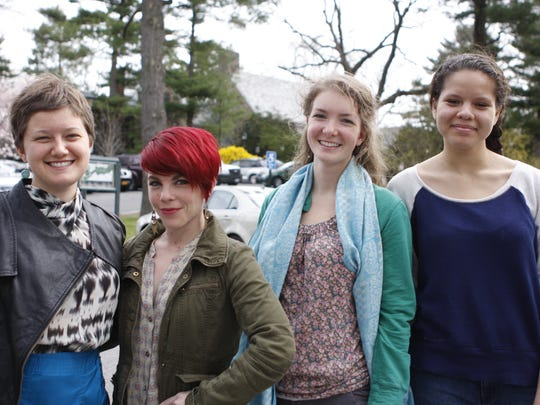 June Kramer, Gabrielle Schutz, Magdalen Zinky and India Stachyra take part in Sarah Lawrence College's Theater Outreach program, working with students at School 30 in Yonkers, teaching them playwrighting, improv and self-expression.