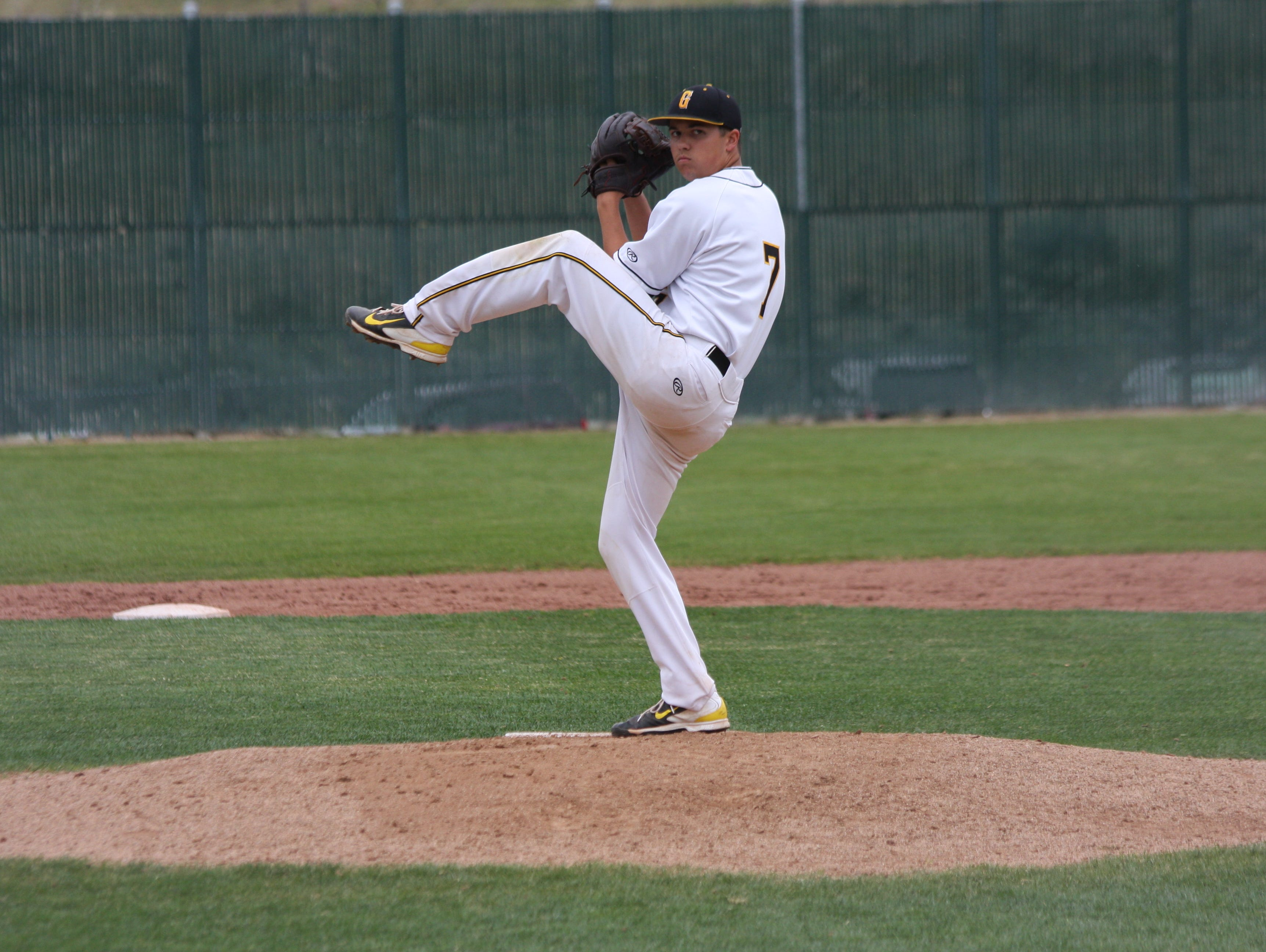 Galena senior Dawson Campos delivers a pitch during Saturday's win over North Valleys