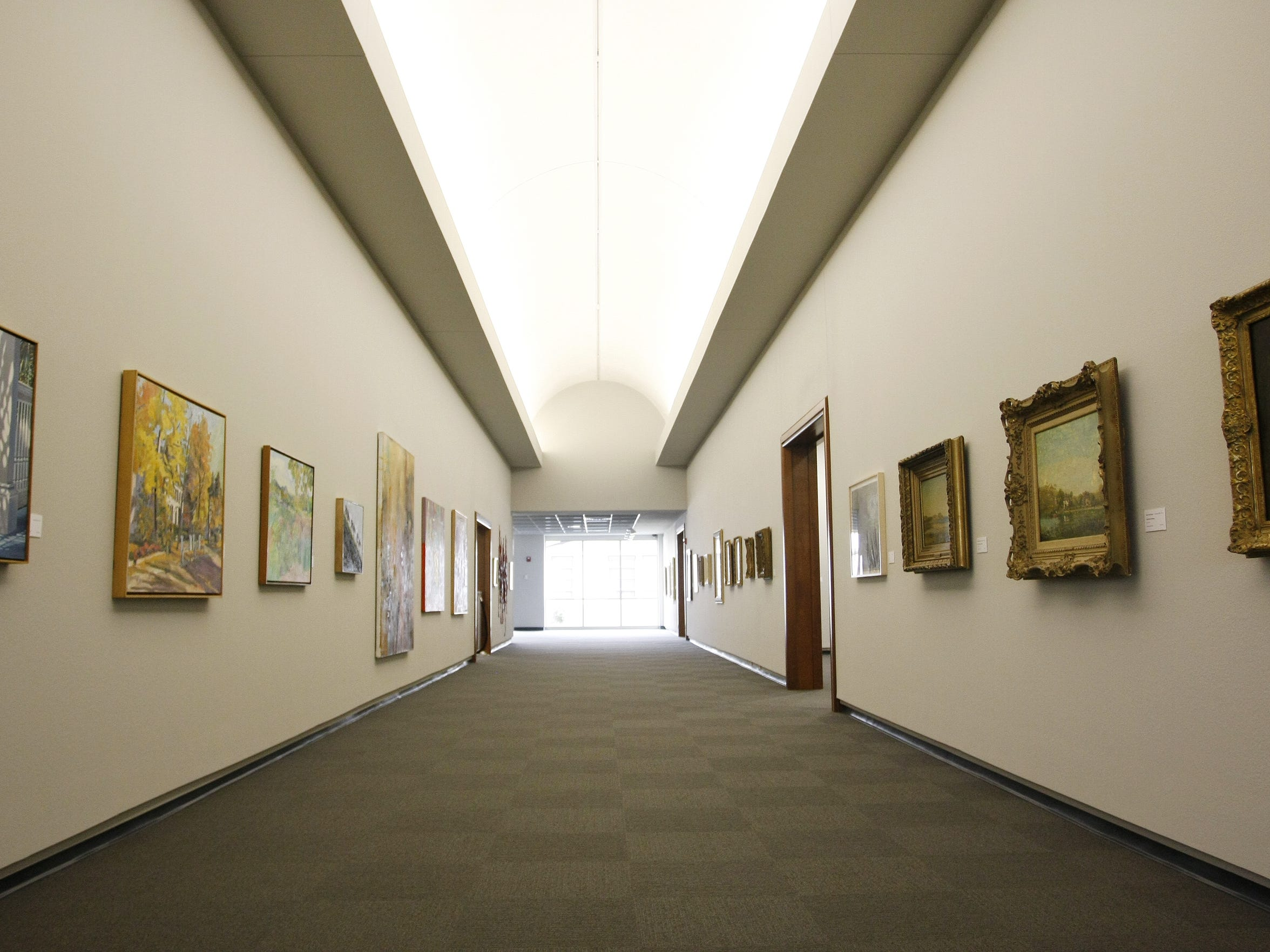 The Corridor Gallery in the 2008 addition to the Springfield Art Museum.  News-Leader/Amber Arnold