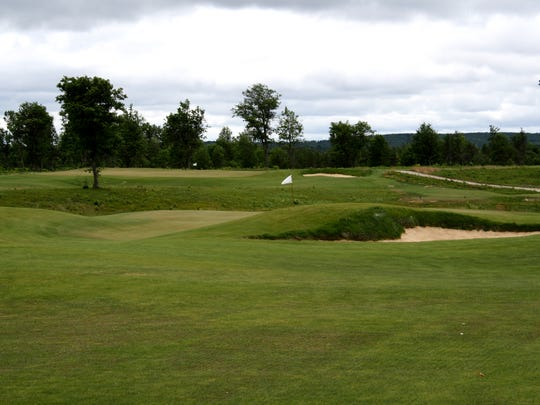 The fourth hole on the Black course at The Loop in