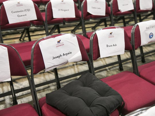 Sheriff Joe Arpaio's seat at the Republican National