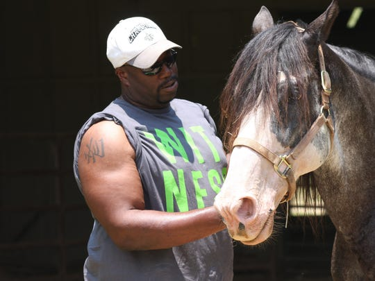 Marcus Dupree is shown here in 2010 as he tends to