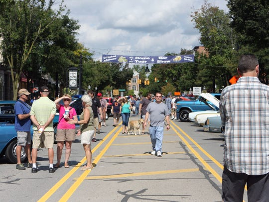 The annual car show drew a large crowd to downtown